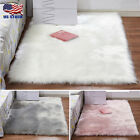 Faux Fur Rug Fluffy Mat Room Sofa Bed Shoebox RugsShaggy Floor Carpet USA Stock