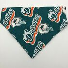 Miami Dolphins Dog Collar Cover Bandanna Scarf Non Choking Medium
