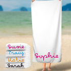Personalised Beach Towels Love Inspired Island Towel Add Any Name Colours water