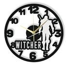 Witcher Wall Clock Gift Silent Non-Ticking Ply Wood Black White 164