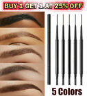 2in1 Waterproof Microblading Eye Brow Eyebrow Pen Pencil Slim Brush Makeup Tools