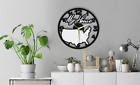 USA Map My Home Wall Clock Gift Silent Non-Ticking Room 179