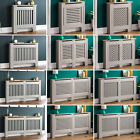 Radiator Cover Grey Modern Traditional MDF Shelf Wood Cabinet Furniture