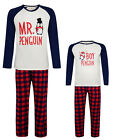 MENS BOYS PYJAMAS DADDY AND SON PENGUIN THEME PJ SETS EX STORE 2Y - 3XL NEW