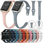 For Apple Watch Series 5 4 3 2 1 38mm 40mm Slim Sport Band Silicone iWatch Strap image