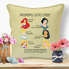 Personalised Birthday Mothers Day Gifts For Mum Mummy Disney Princess Cushion