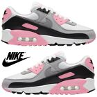 Nike Air Max 90 Women's Sneakers Casual Shoes Premium Running Sport Gym Pink