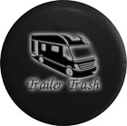 Spare Tire Cover Trailer Trash Bus Glowing Off Road RV Accessories