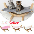 Pet Hammock Bed Cat Hanging Kitty Relaxing Sleeping Wooden Swing Rest Cradle Toy
