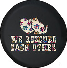 Spare Tire Cover We Rescued Each Other Adopt Cat Kitty Paws JK Accessories