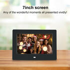 7in HD Digital Photo Frame with Alarm Clock Picture MP3 Player Remote Control