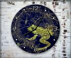 Big Green Frog Wall Clock Home Office Bedroom Living Room Kitchen Decor