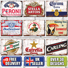 Metal Signs Plaques Vintage Retro Pub Bar Mancave Wall Poster Beer Tin Sign UK £4.95  on eBay