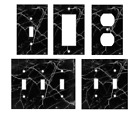 BLACK MARBLE IMAGE Light Switch Covers Home Decor Outlet MULTIPLE OPTIONS