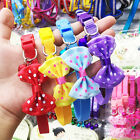 1PC Adjustable Pet Dog Bowknot Bells Puppy Collar Kitten Necklace Chain Toys #N1