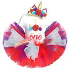 Red Baby Girl 1st Birthday Unicorn Party 3pcs Sets Tutu Dress Outfits Suits