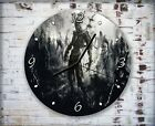Black White Zombie Attack Wall Clock Home Office Bedroom Living Room Kitchen
