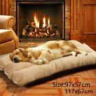 Large Dog Bed Pet Cushion Beds House Soft Warm Kennel Blanket Nest Washable UK