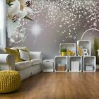 Lillies Sparkles Silver Floral Wallpaper Wall Mural Fleece Easy-Install Paper