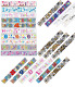 Foil Banner Happy Birthday Holographic 9ft Kid Party Banners Decoration 1st-80th