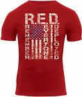 """Red Athletic T-Shirt US Flag """"Remember Everyone Deployed"""" R.E.D.Muscle Tee 5382 image"""