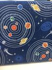 Light Years Planets Lewis & Irene Glow In The Dark Fabric Fat Quarter