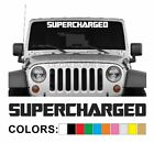 Supercharged Windshield Decal Sticker style1 Boost wrx Car Turbo Diesel Truck