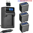 Kastar Battery LCD AC Charger for Sony NP-QM91D DSR-PDX10 HVL-ML20M HVR-A1