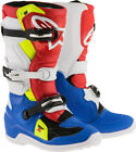 Alpinestars Youth Tech 7S MX Dirt Boots BLACK RED WHITE YELLOW