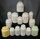 RAE DUNN EASTER-CANISTERS/BUNNY TOPPER CANISTERS