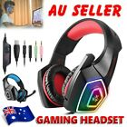 AU Gaming Headset LED Headphones Bass Surround Mic for Laptop PS4 Xbox One PC