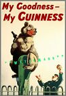 Zookeeper and Bear My Goodness My Guinness Vintage Poster Print Beer Advertising