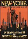New York City 1939 Guide Vintage Poster Print Retro Style Travel Art Wall Decor