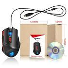 HXSJ Wired USB Optical Gaming Mouse Computer Game Mice 6 Adjustable LED Lights