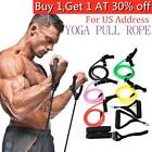 Resistance Bands Loop Exercise Rubber Gym Yoga Elastic Band Fitness Training US image