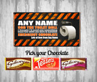 Personalised Chocolate Bar - Self isolation - toilet paper - Make someone smile