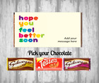 Personalised Chocolate Bar - Hope you feel better soon - Gift for loved one