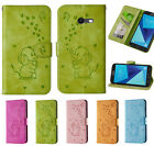 Newest Cute Emboss Dumbo elephant Wallet PU Leather Case cover for Samsung