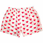 NEW Royal Silk® Men's Smooth White Red Heart Silk Boxers S-3XL