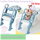 Kids Baby Foldable Stair Potty Traning Seat with Anti-Slip Steps&Foot-rest Chair image