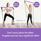 Pilates Stretch Pull Rope Slimming Gym Home Exercise Stick Bar Band Portable US image