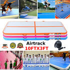3FTX10FT Inflatable Air Track Floor Home Gymnastics Tumbling Mat GYM 3 colors WD image