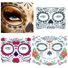 Halloween Dress up Day Of The Dead Temporary Tattoo Stickers Facial Makeup $8.5 USD on eBay