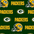 Green Bay Packers Football NFL Cotton Fabric - By the Yard $6.95 USD on eBay