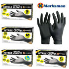100pc BLACK NITRILE DISPOSABLE GLOVES POWDER LATEX FREE TATTOO MECHANIC VALETING