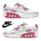 Nike Air Max 90 Women's Sneakers Casual Shoes Premium Running Sport Gym Silver