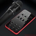 External Audio Microphone Universal Live Broadcast Sound Card for iOS Android PC