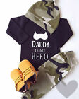 Newborn Infant Kids Baby Boy Long Sleeve Button Romper Bodysuit Clothes Outfit