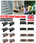 4-12x Solar Led Stair Lights Garden Outdoor Pathway Patio Stairs Step Fence Lamp