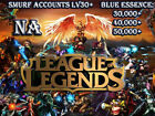 League Of Legends Unranked Account 30,000-50,000 BE Lv30+ NA Smurf LOL